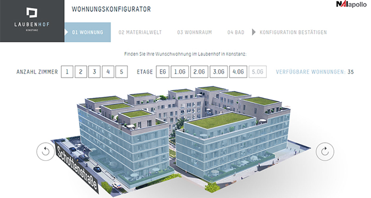 NAI apollo vermarktet Laubenhof in Konstanz digital